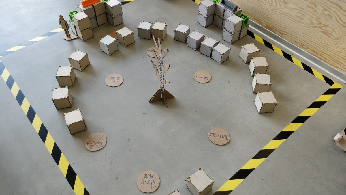 Model af Fablab rum på skole
