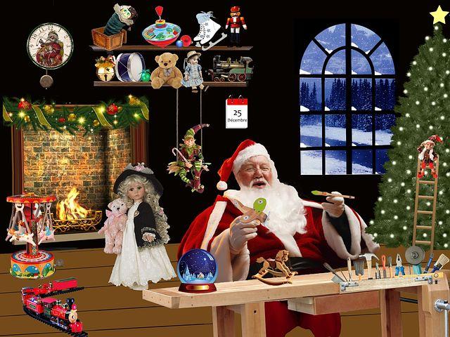 julemand leenede i sit julemands værksted