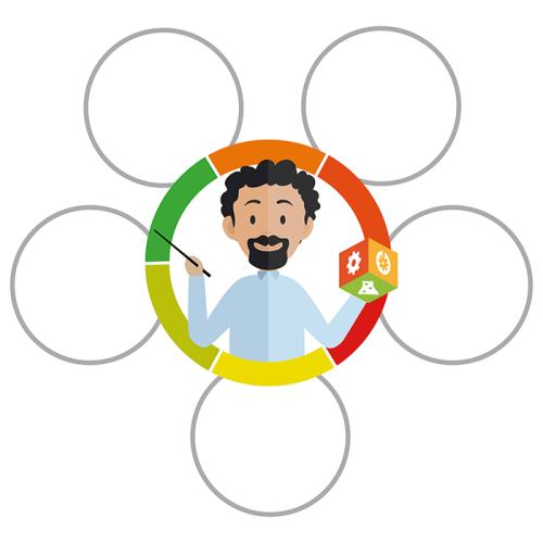 Projektleder - tomme cirkler