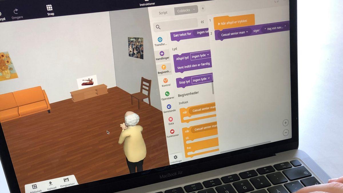 Elevarbejde i den online ressource CoSpaces