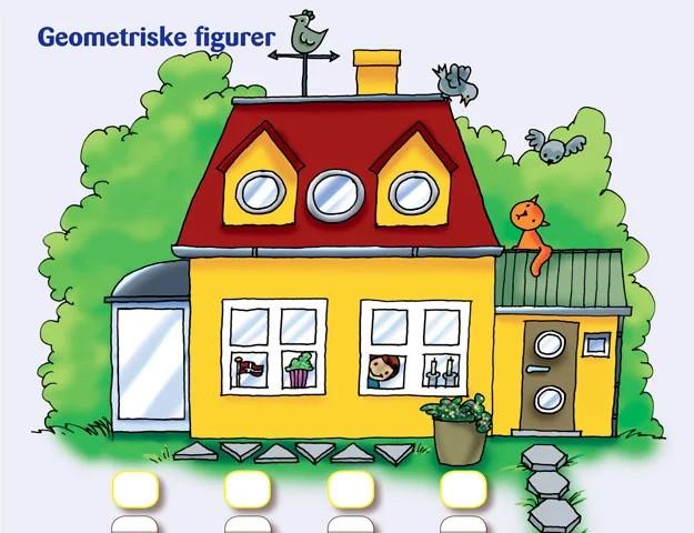 Hus med mange forskellige geometriske former