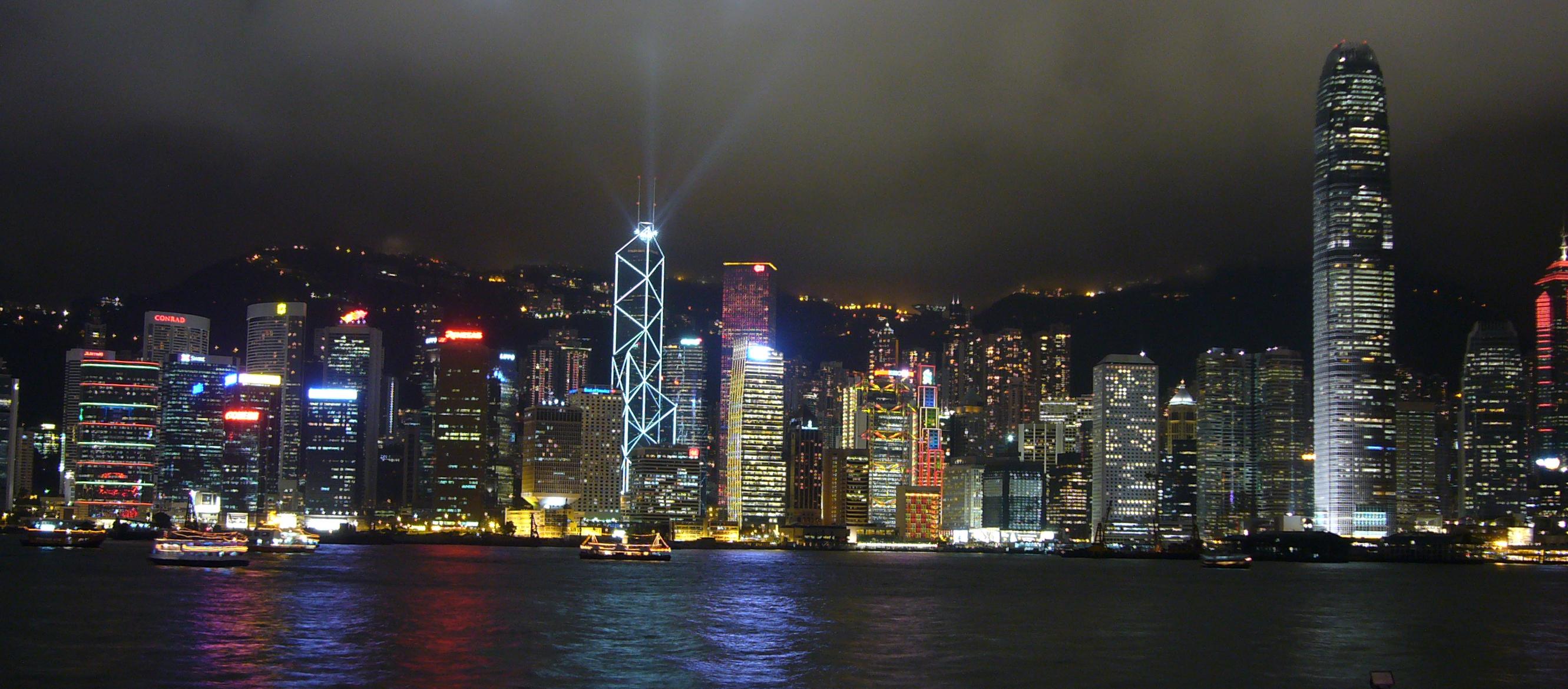 Billede af Hong Kong skyline