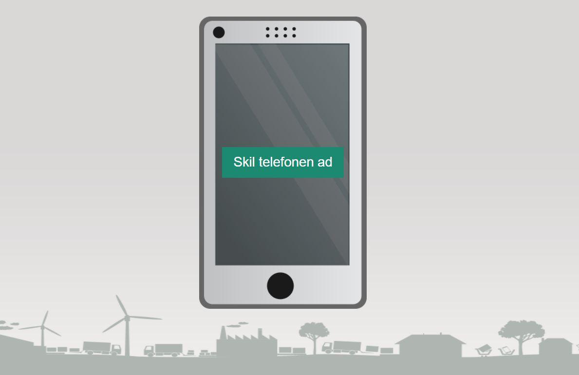 Skærmbillede fra online ressource, hvor man kan skille en telefon ad virtuelt