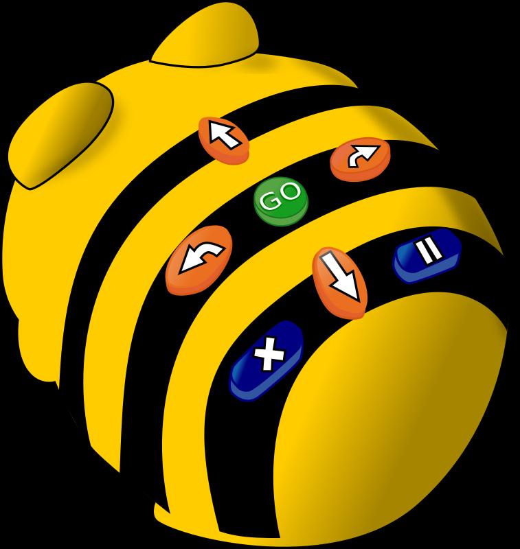 Kodeknapper på en Beebot