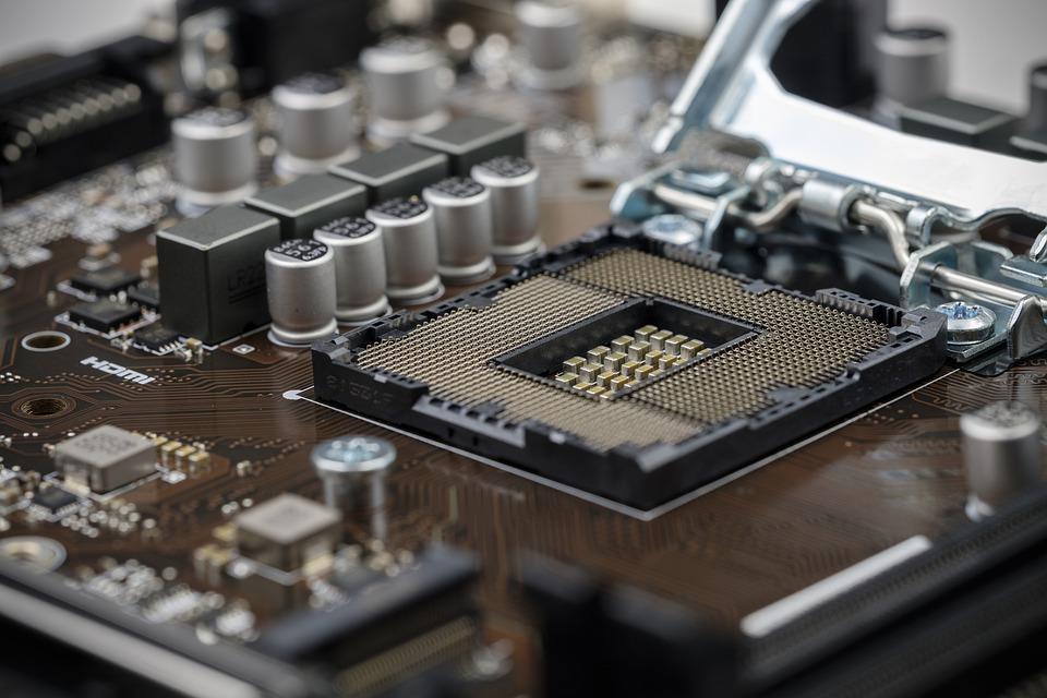 Billede af komponenter inde fra en computer