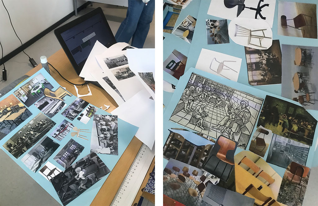 Collage med forskellige inspirationer til design