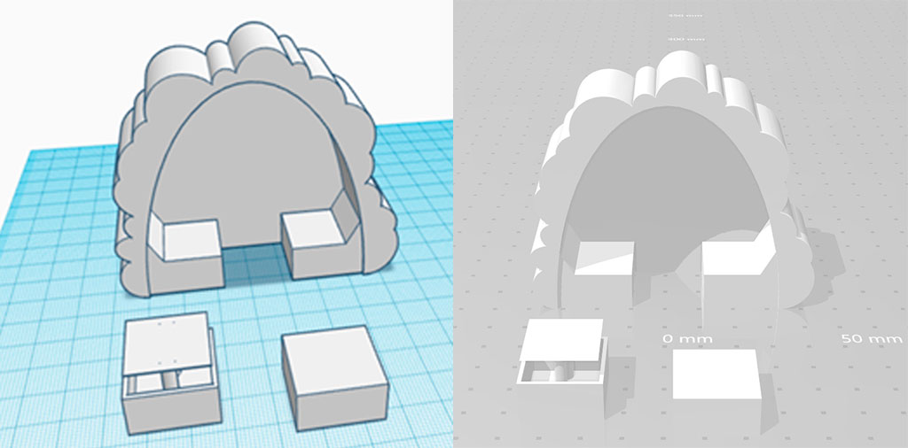 3D rendering af et møbeldesign