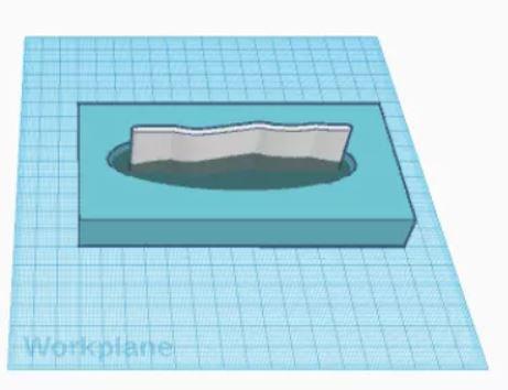 Element under konstruktion i et 3D tegneprogram