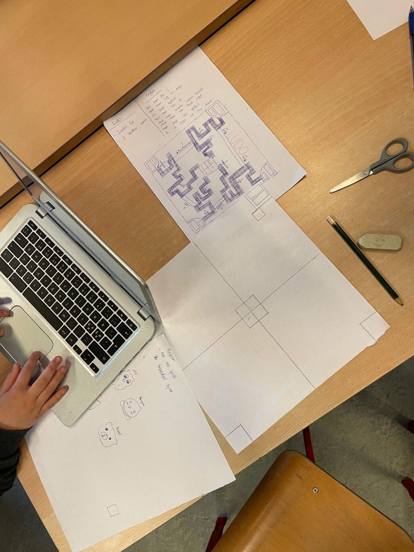 Elev omsætter ideer til spil