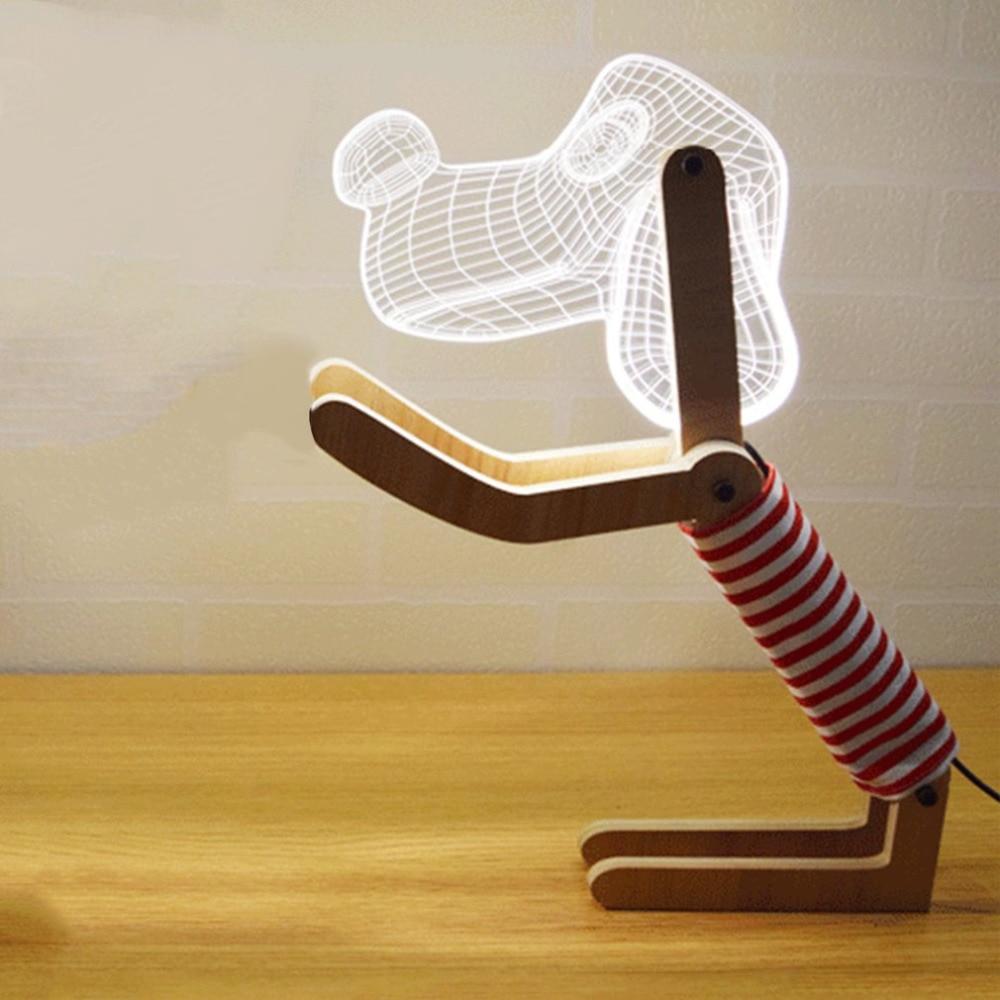 Billede af en lampe, der er udformet som en hund.