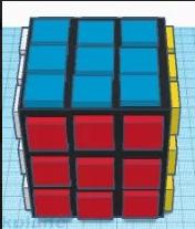 Rubrickscube modelleret i et 3D-tegneprogram
