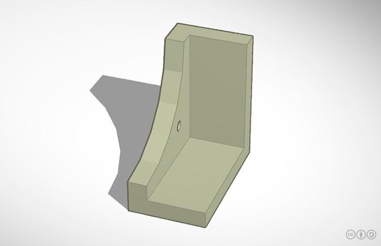 3D tegning af hjørne på ramme.