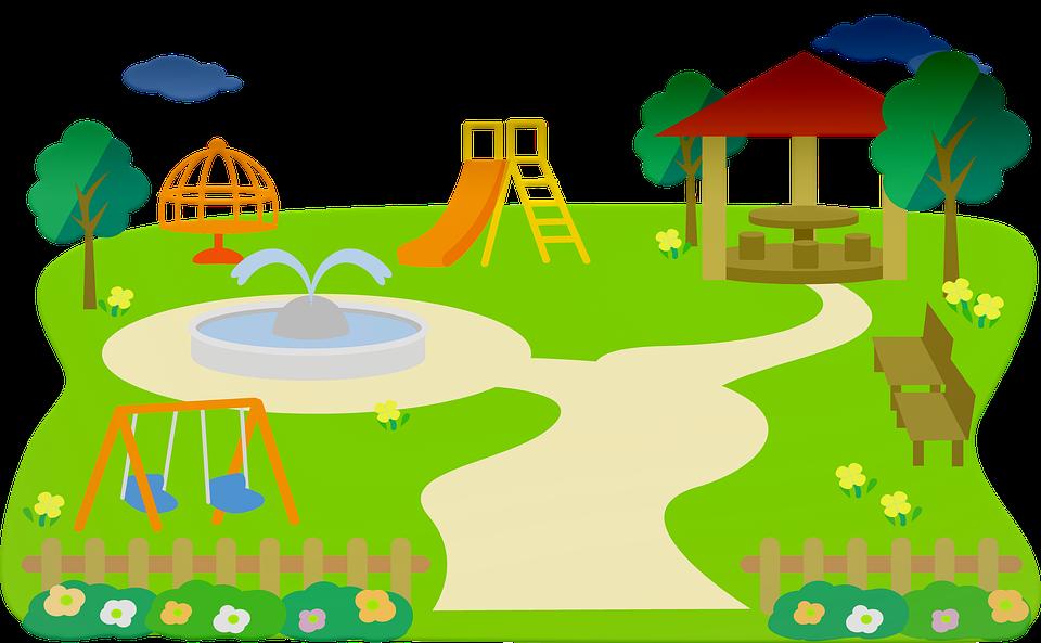 Tegning af en legeplads