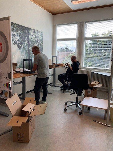 Et nyt hold pionerer eksperimenterer med teknologi