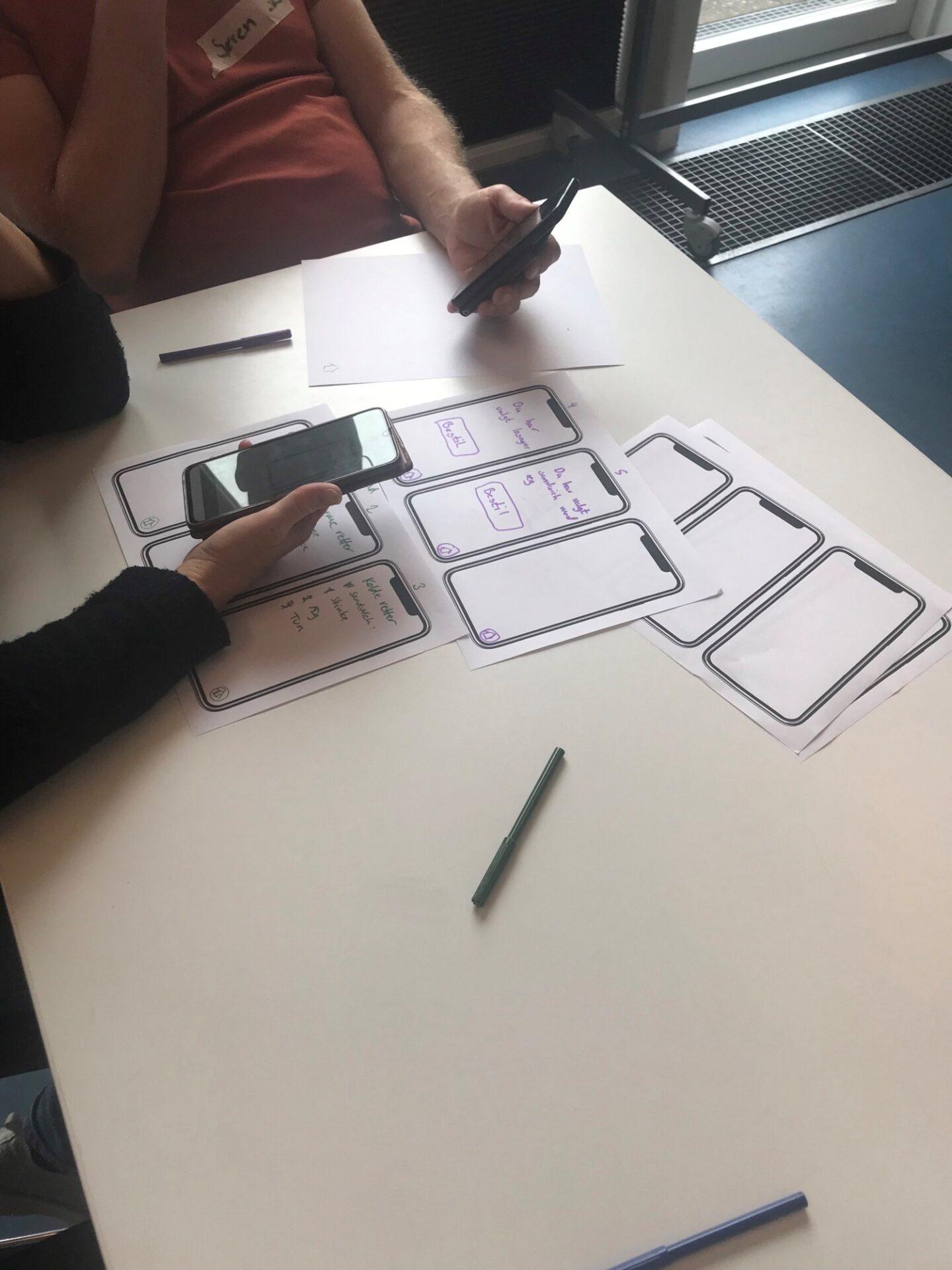 Workshop hvor deltagere designer en app