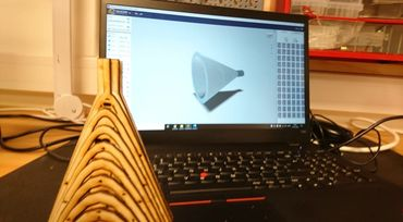 3D modellering af tragtformet genstand