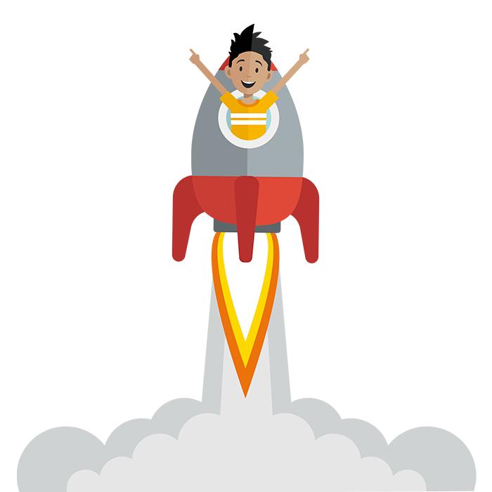 Dreng i raket